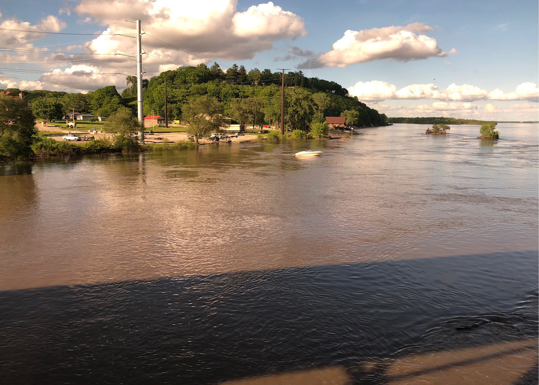 View of Mississippi River from train window